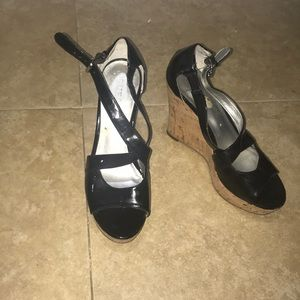Guess black heigh top shoes